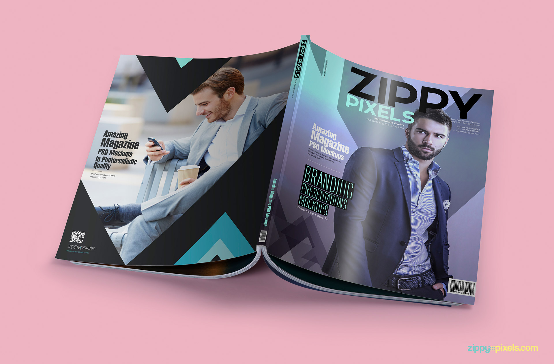 15 Amazing PSD Magazine Mockups for Cover & Ad Designs | ZippyPixels