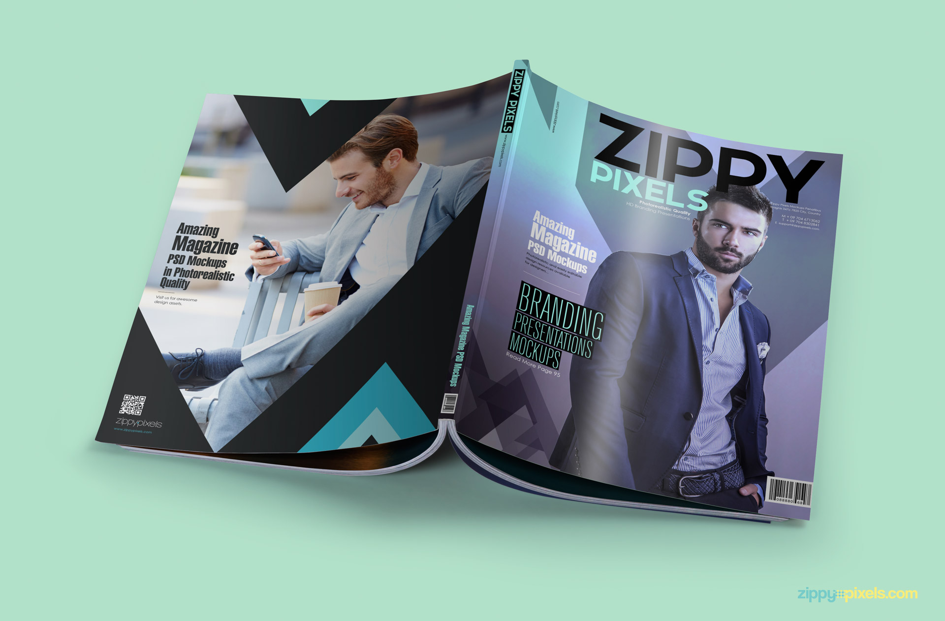 download free magazine psd mockup