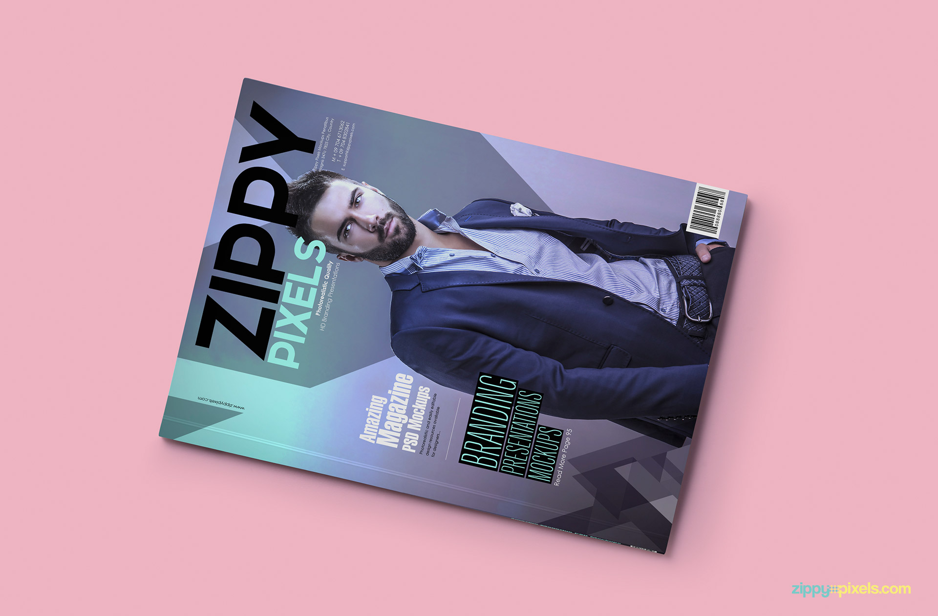 Mockup your magazine front cover