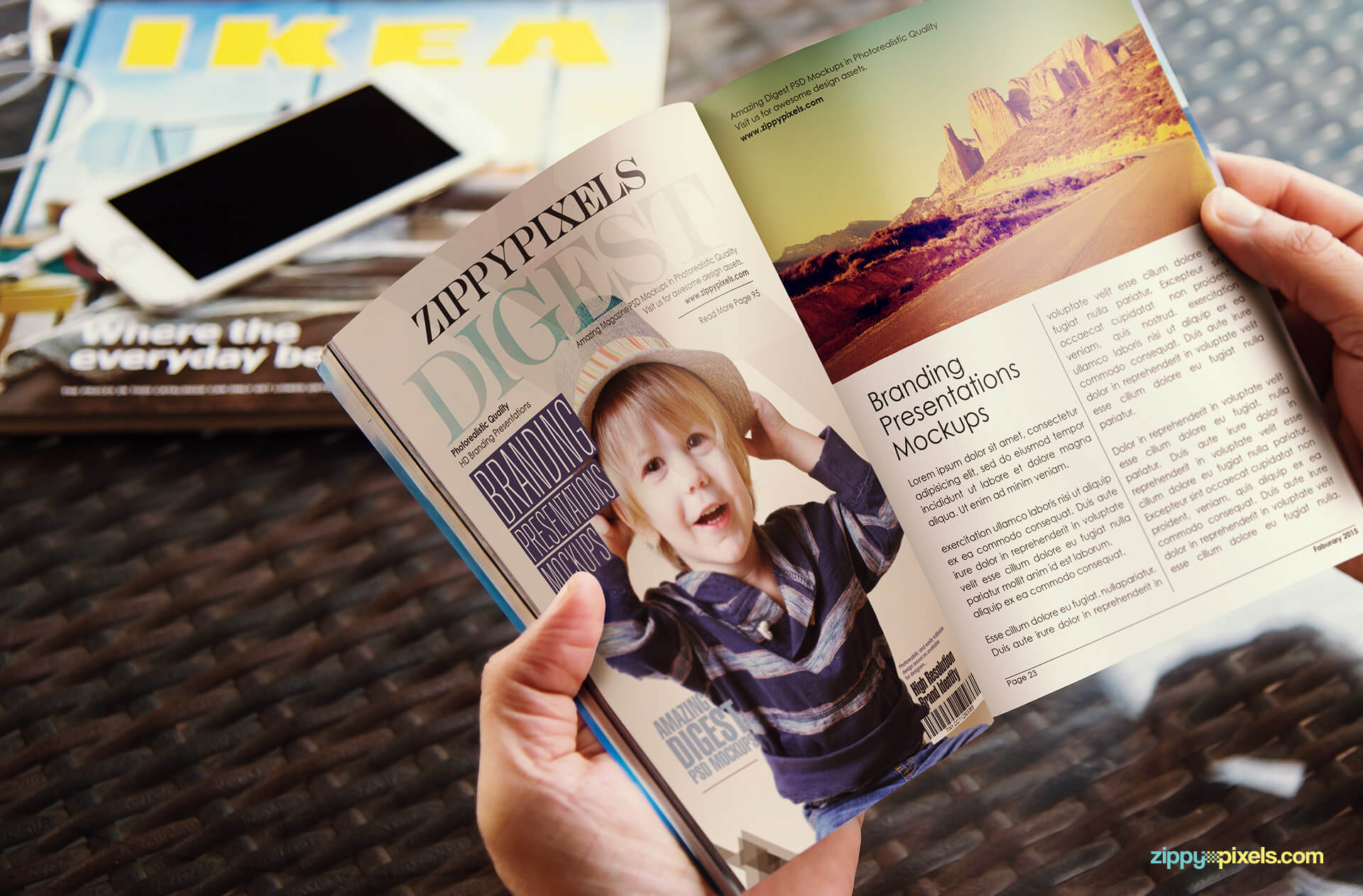 12 Brilliant Digest Size Magazine Mockups for Download ...