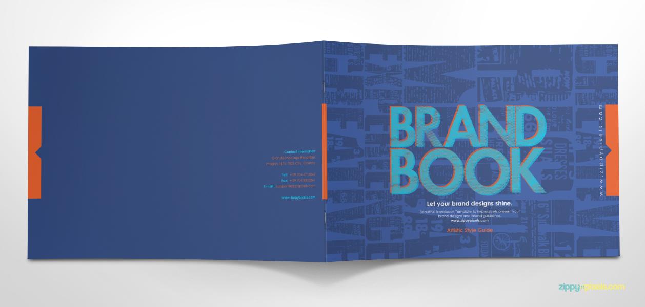 Free Brand Guidelines Template Brandbooks – Manual Design Templates