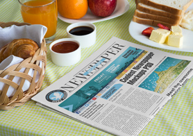 Stunning Newspaper Ad Mockups Volume 7 – Breakfast Edition [15 PSD Mockups]