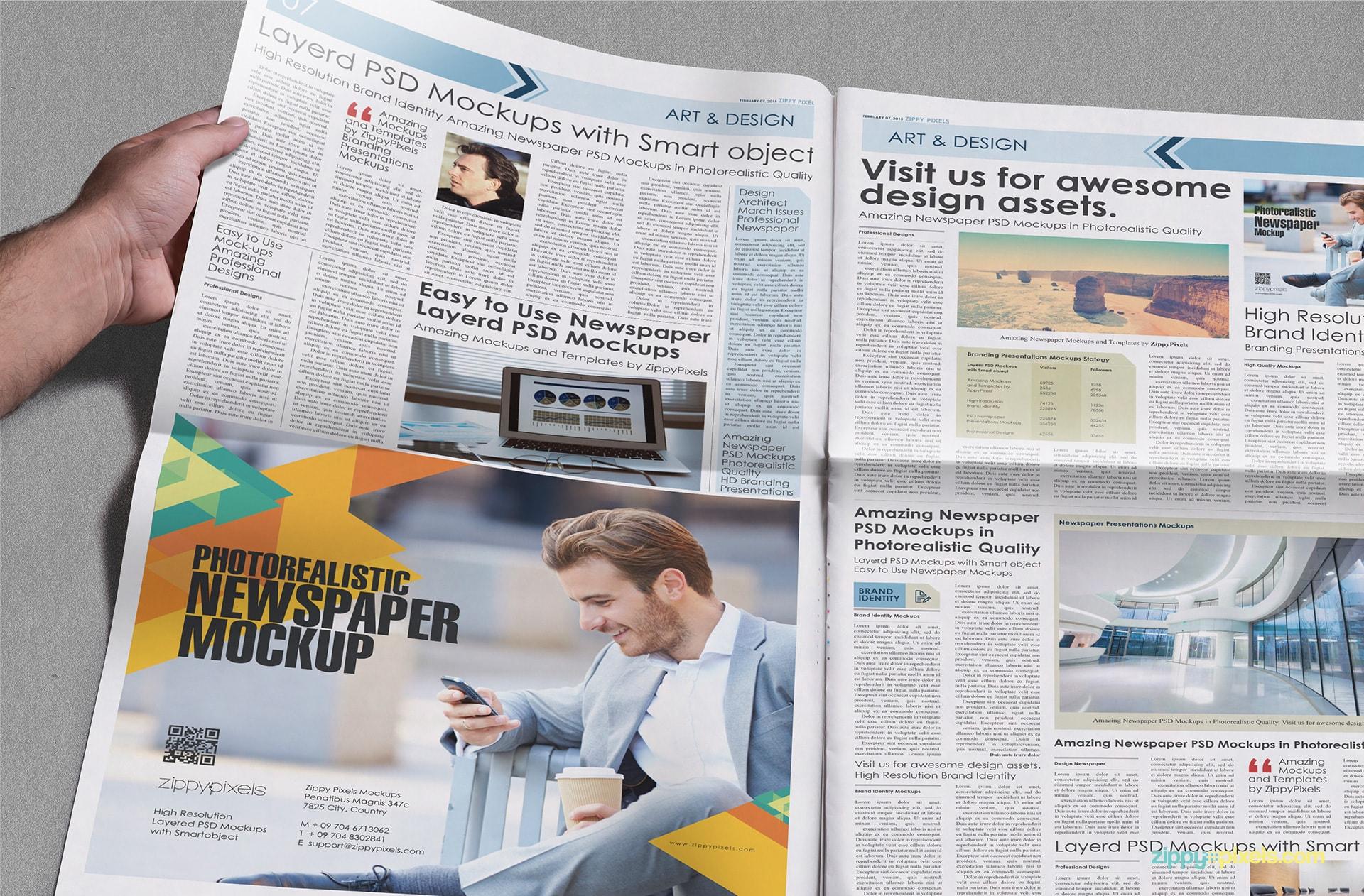 beautiful newspaper ad psd mockup zippypixels 7 additional mockups as bonus