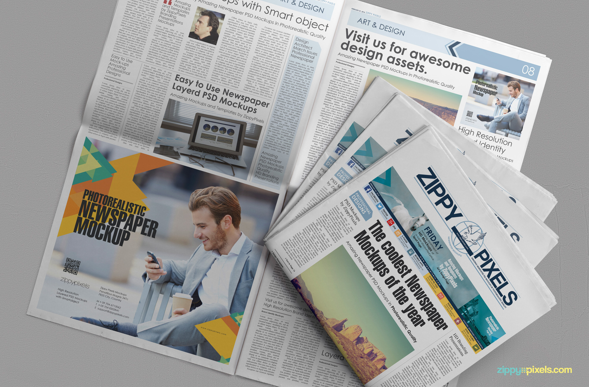 beautiful newspaper ad psd mockup zippypixels