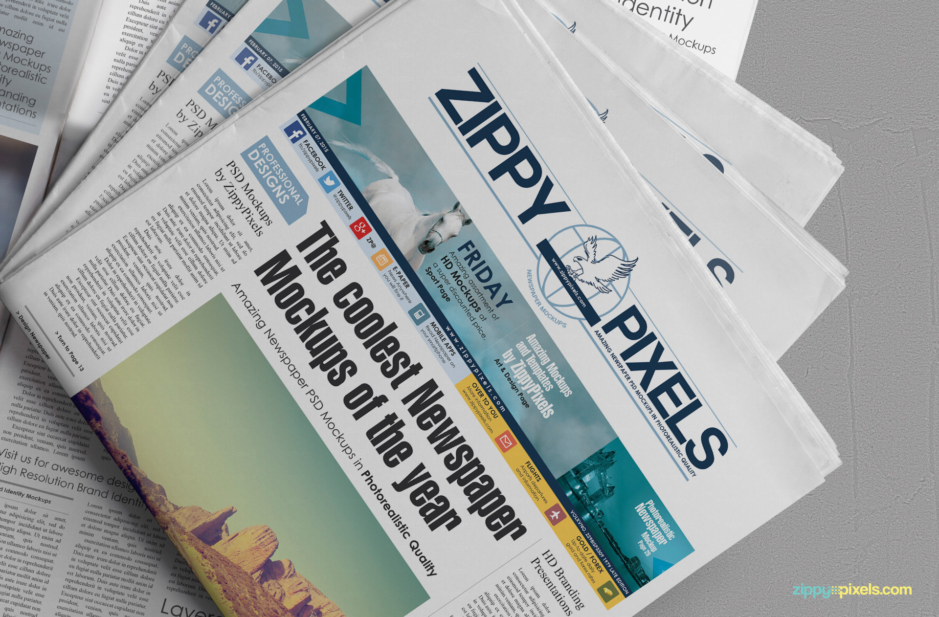Free Newspaper Mockup for newspaper & ad designs