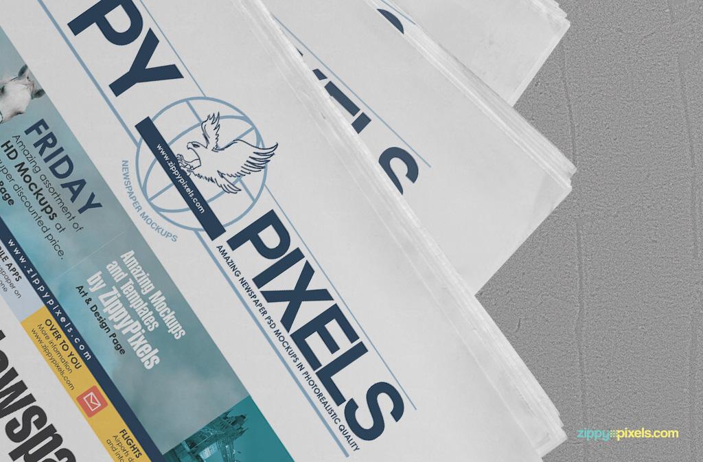 Free Newspaper Mockup for newspaper & ad designs