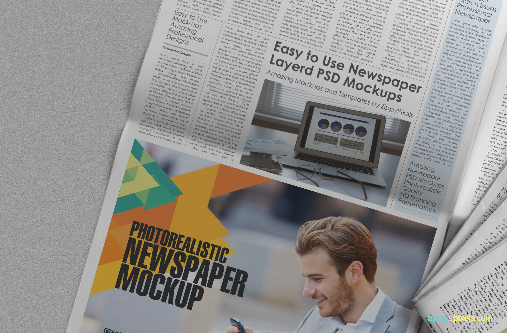 beautiful newspaper ad psd mockup zippypixels customizable newspaper ad mockup customizable background