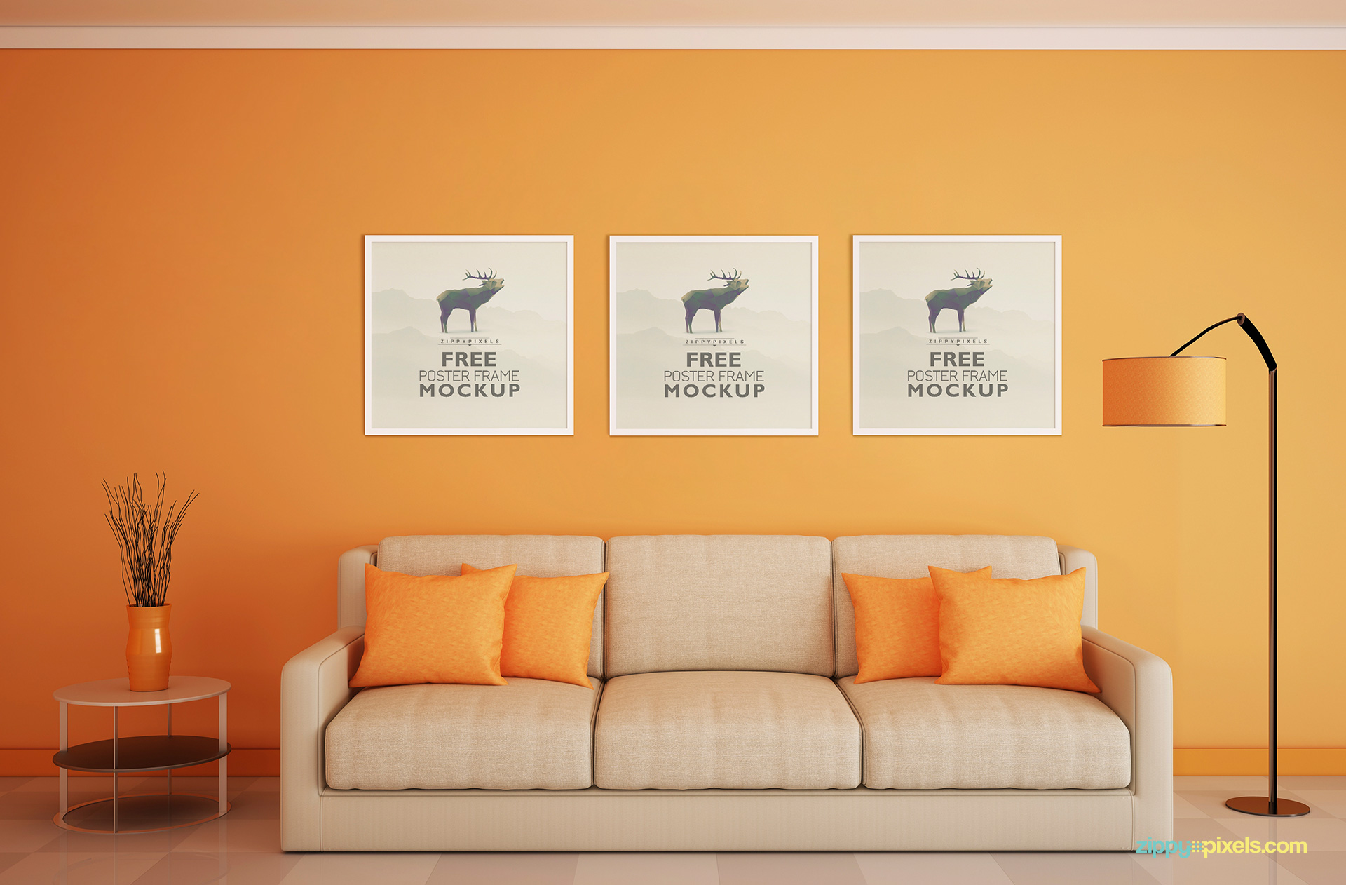 free-photo-frame-mockup-3-small-square-posters