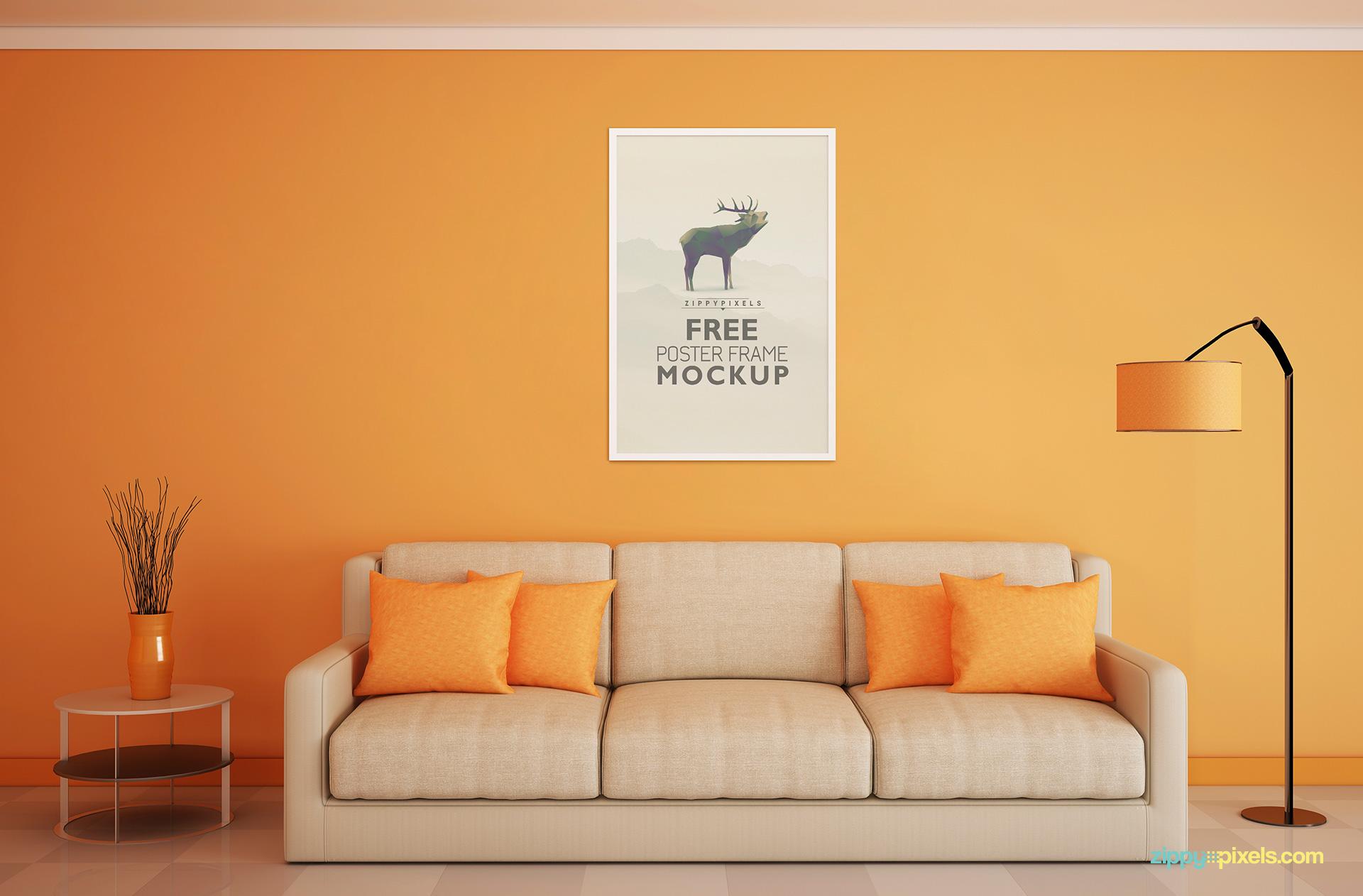 free-poster-frame-verticle-3-4-mockup