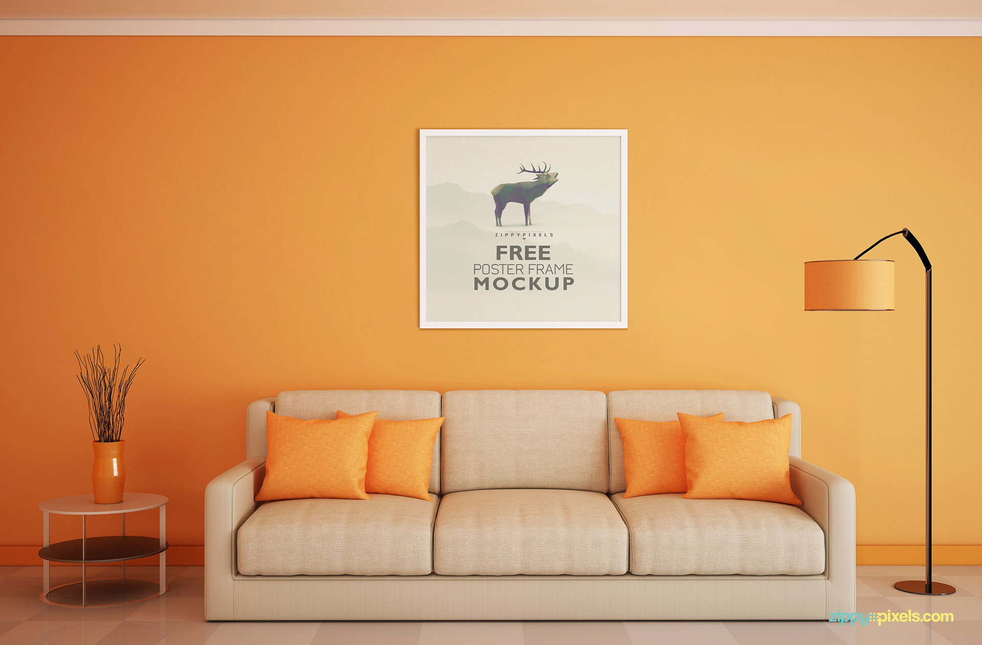 free-square-wall-photo-frame-mockup