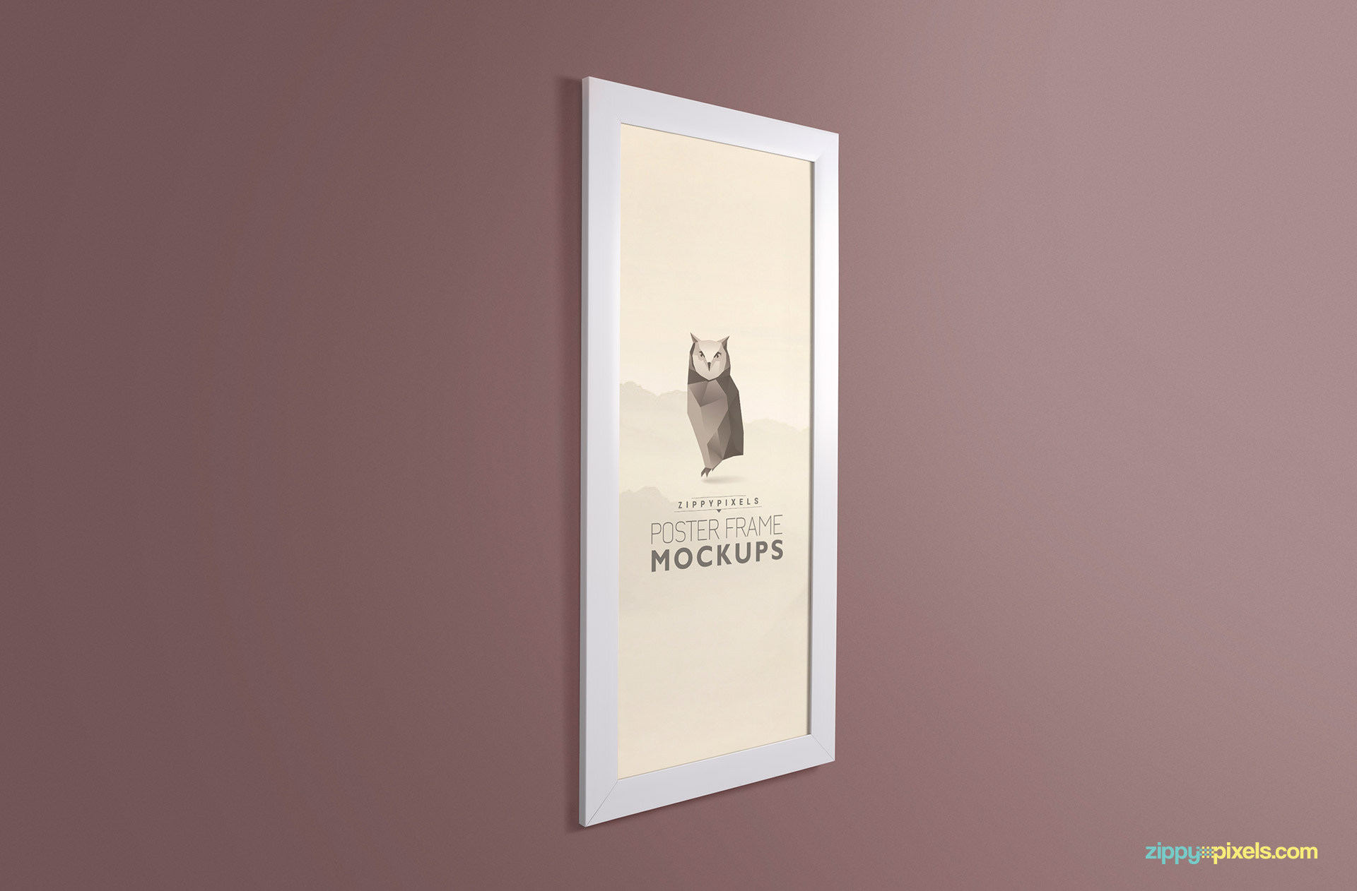 Beautiful photo frame mockups showing a picture frame in three qaurter shot