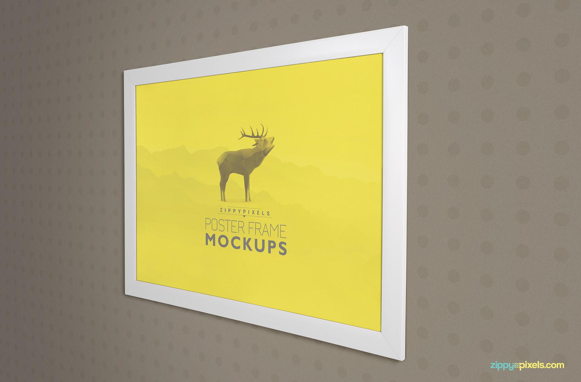 19 Elegant Poster Frame PSD Mockups | ZippyPixels