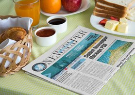 15 beautiful indoor newspaper ads PSD mockups