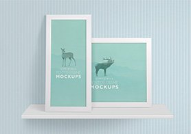 19 Customizable Elegant Poster Frame Mockups Vol 2