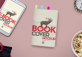 Book PSD Mockups Volume 5 – Book Mockup & Ebook Hero Header Creator Edition