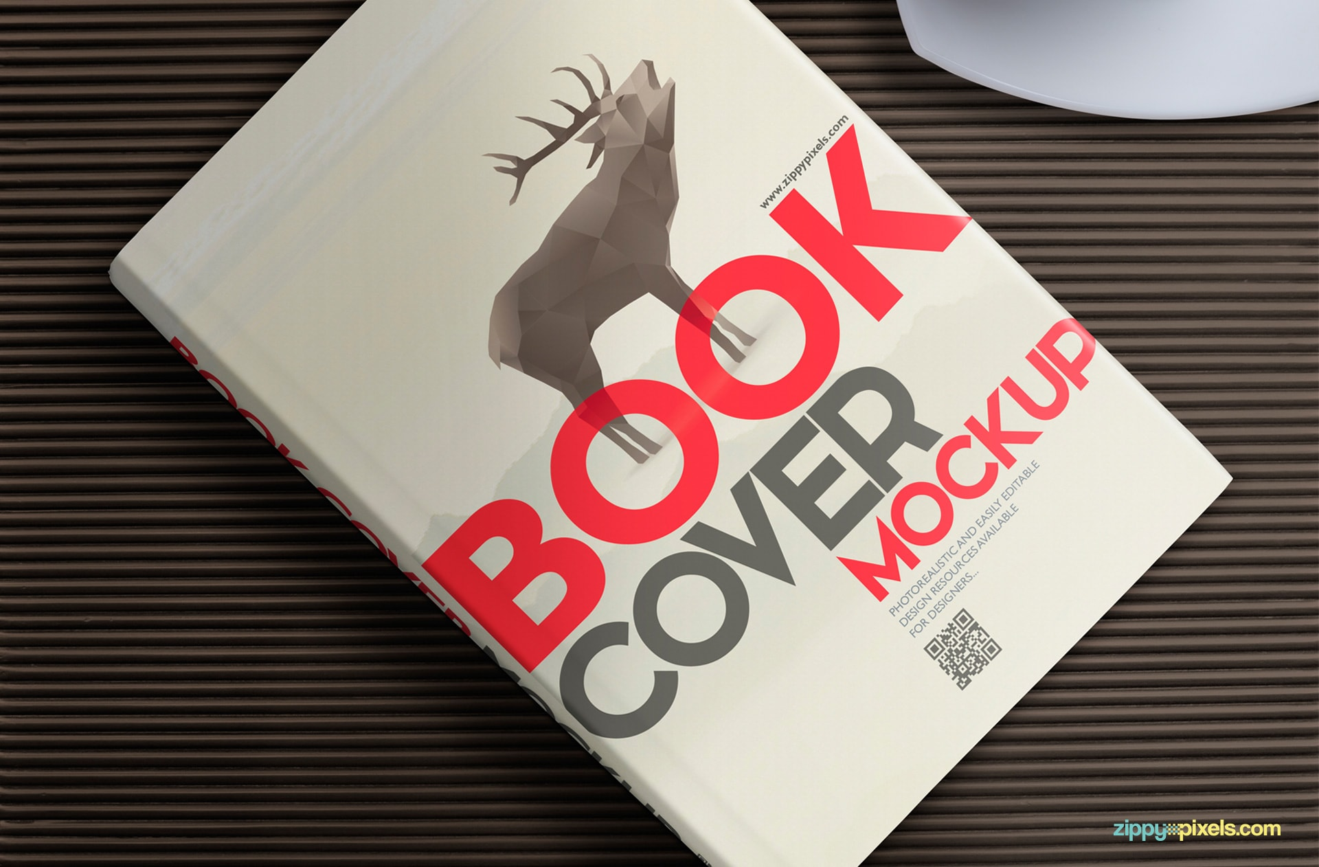 Free Book Mockup For Hardcover Designs Zippypixels