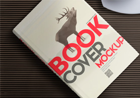Free Hardcover Book Mockup for Cover Design Presentations