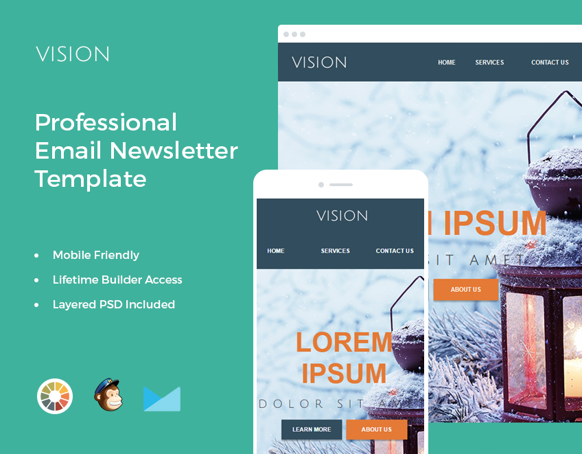 Make your online marketing campaign a complete success with this easy to use email template.