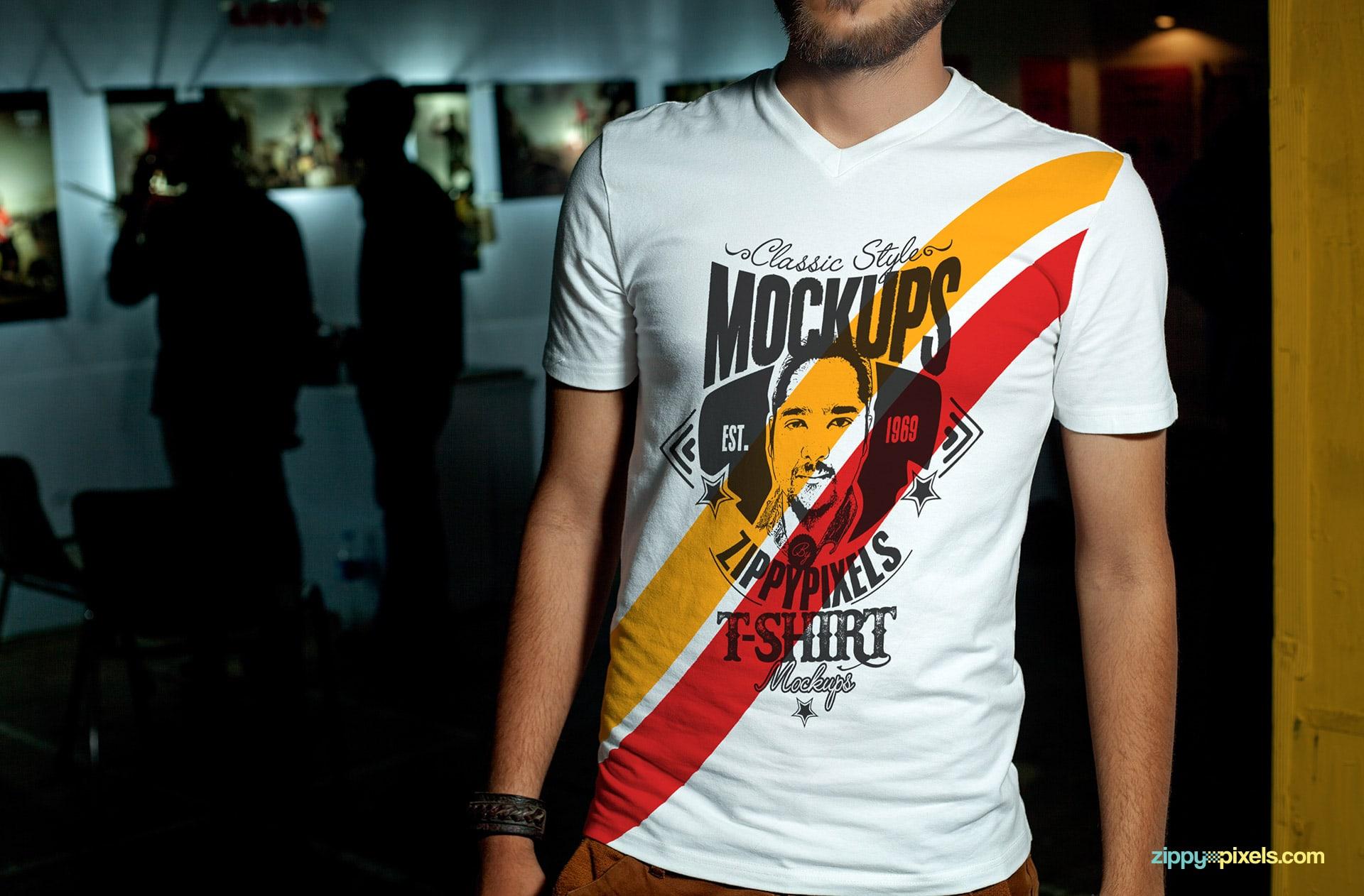 Photorealistic Tee-shirt mockup PSD