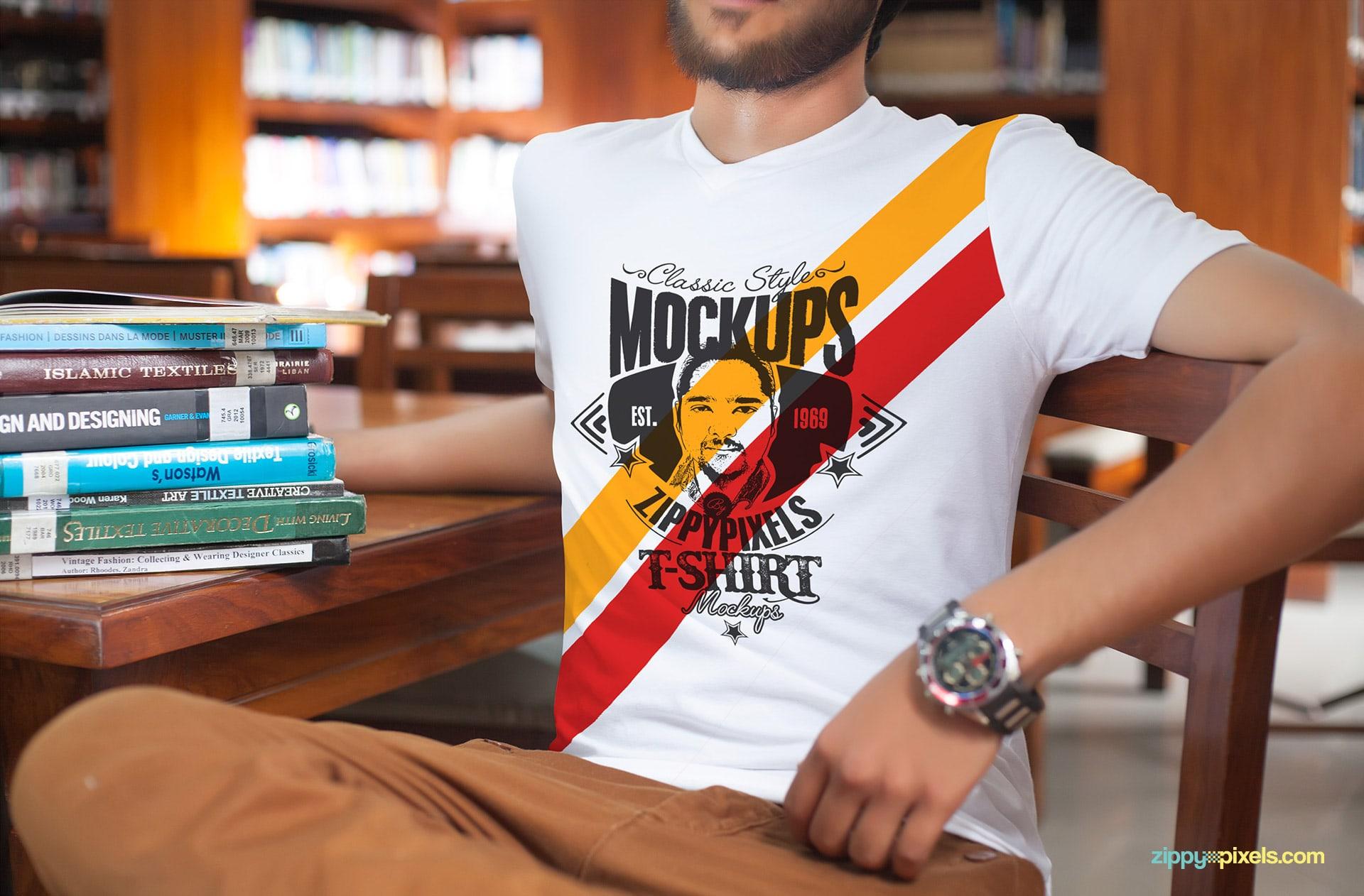 Realistic Shirt PSD Mockup