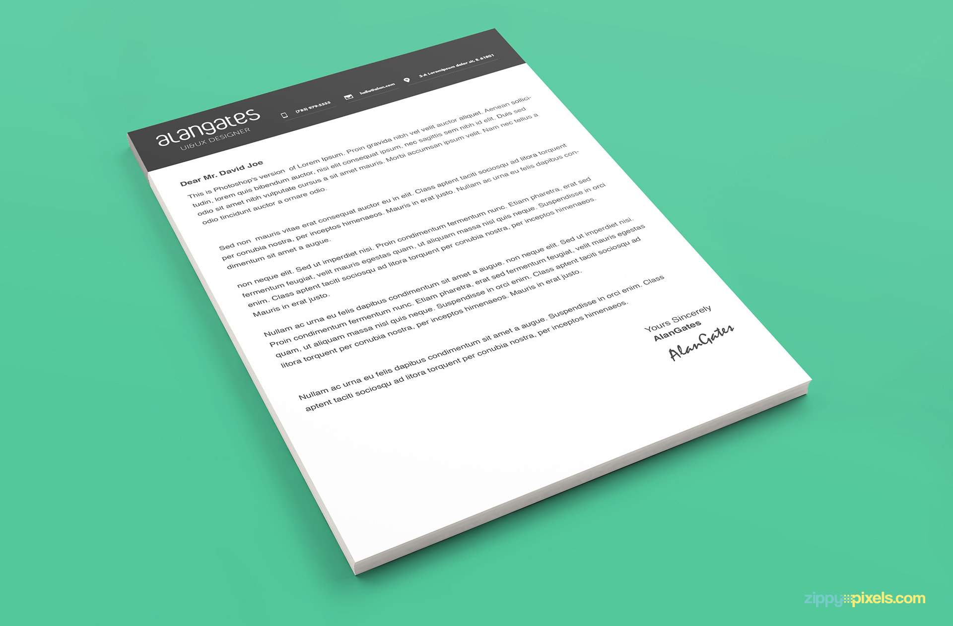 Modern Resume Template In PSD With Cover Letter