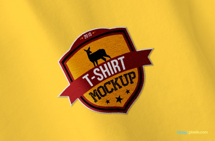 Replace your logo on this free t shirt mockup psd