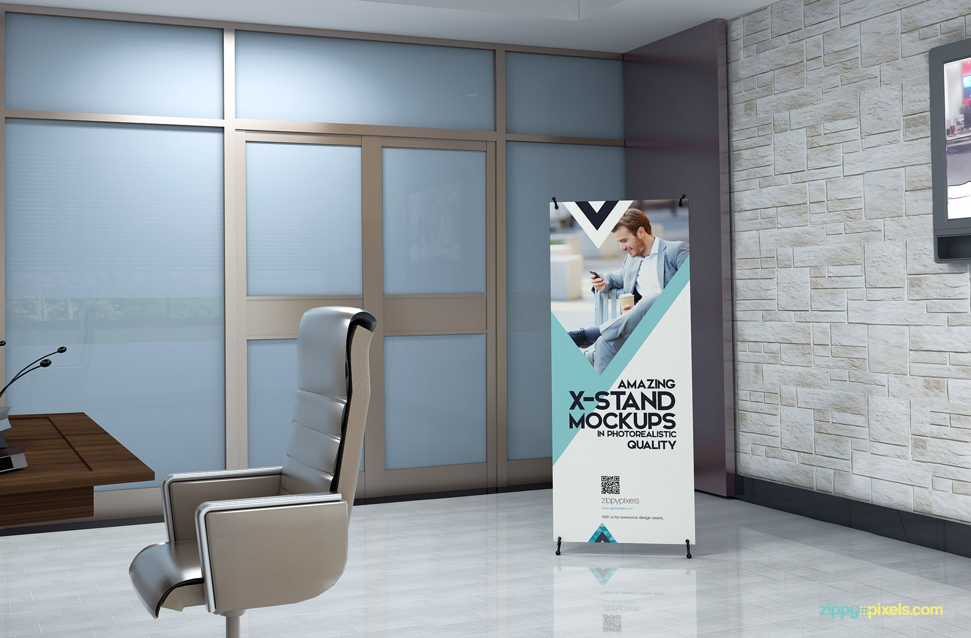 Top-notch x-banner mockups to make your design replacments easy.