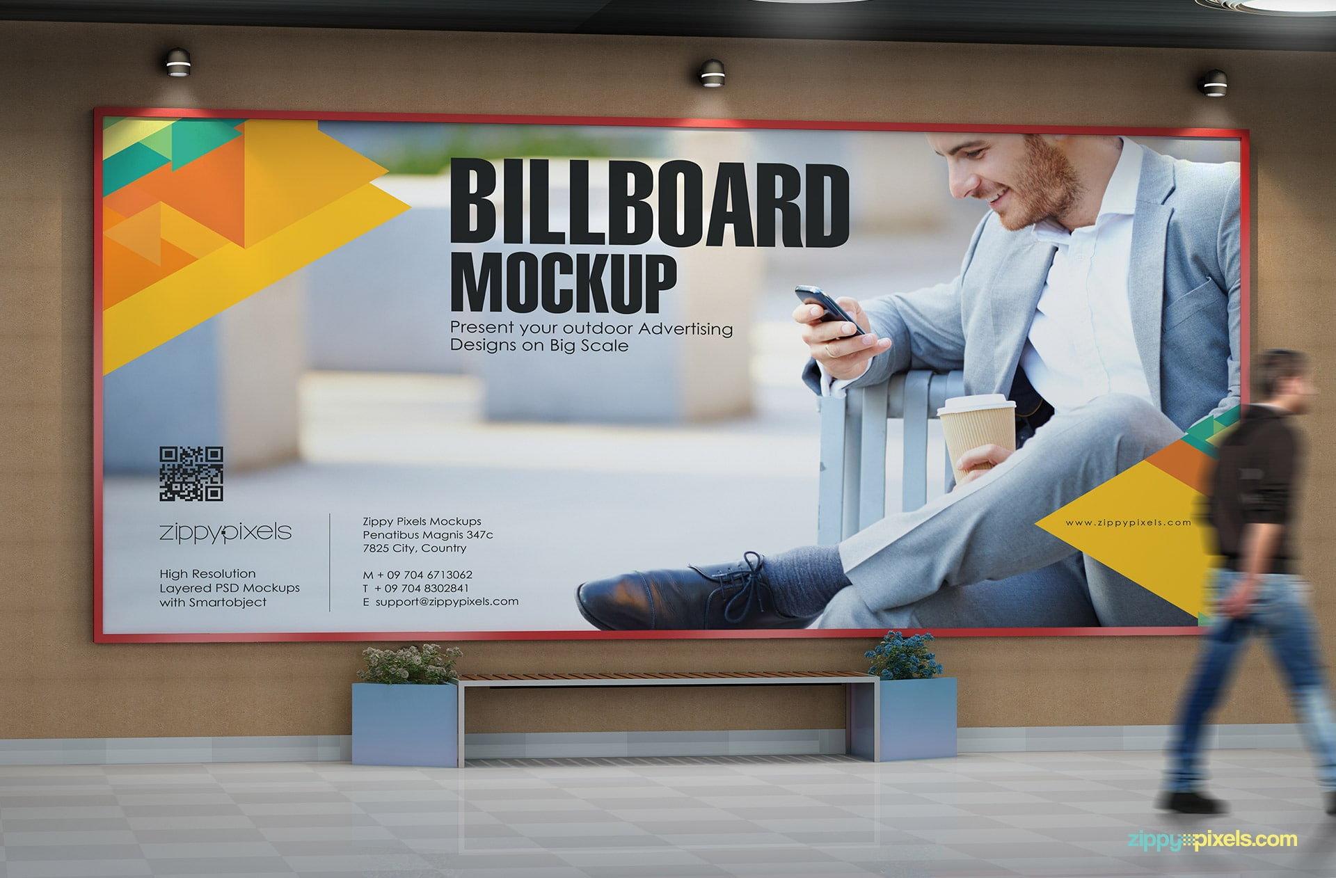Subway billboard advertising mockup to bring your designs to life