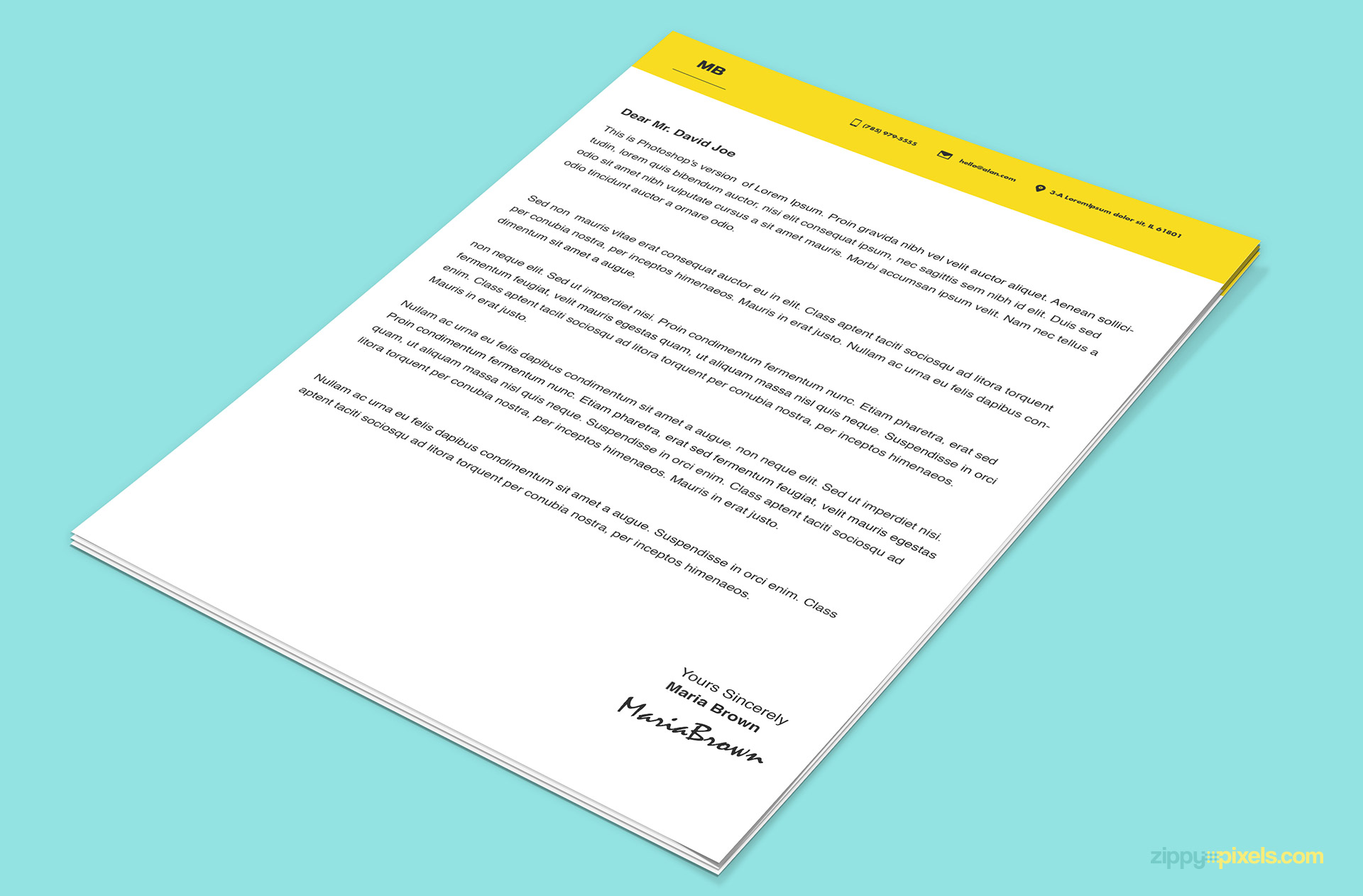 Awesome Cover letter template for your next resume.