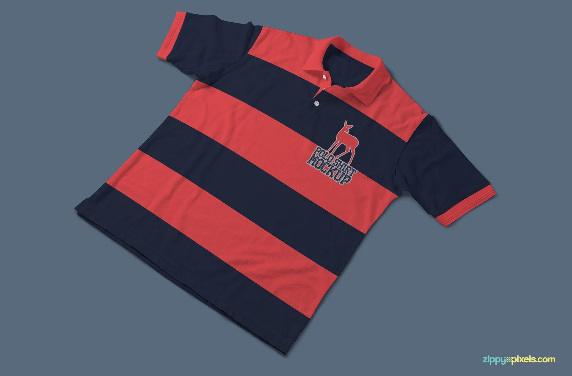 Twin tone polo shirt mockup