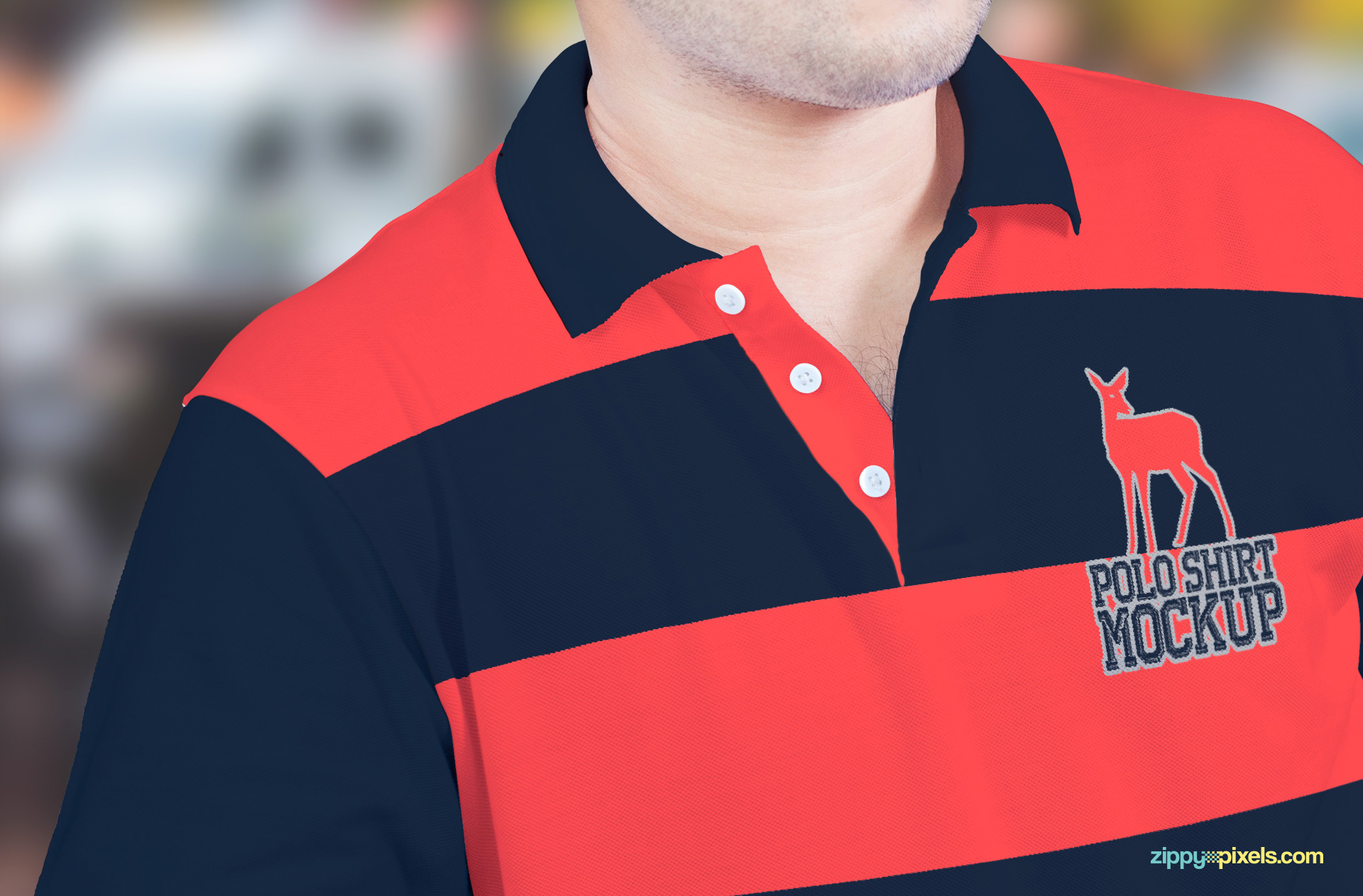 Free to use polo shirt mockup with editable features