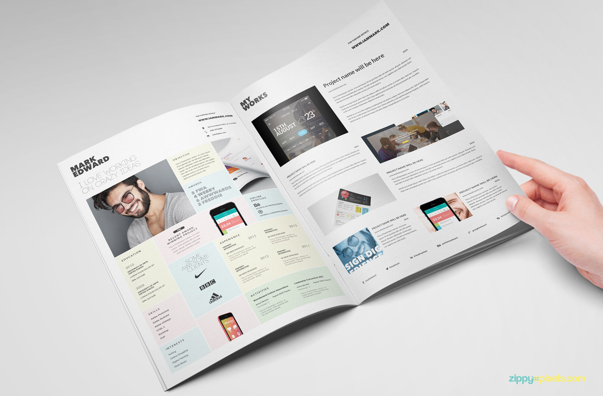 Unique Resume Template For Exceptional Designers  Zippypixels