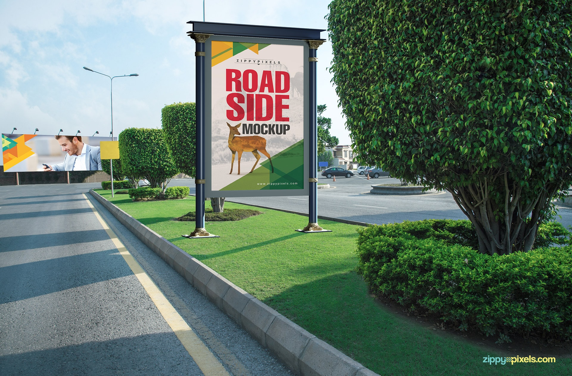 Road side poster mockup for your advertising needs.