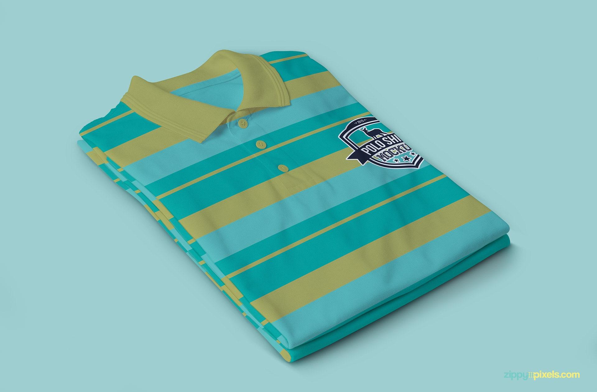 A Multi-colored shirt mockup PSD