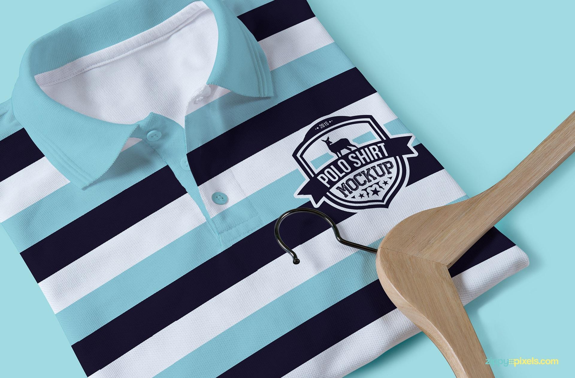 One of the 13 polo shirt mockups