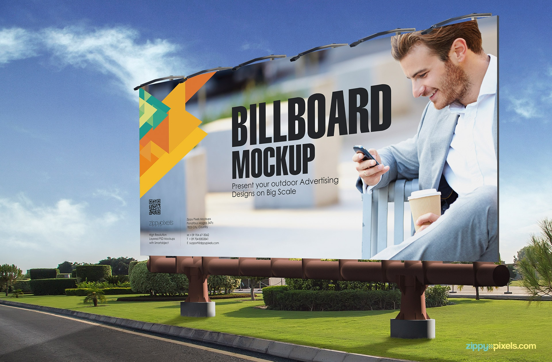 Present your hoarding mockups on a larger scale.