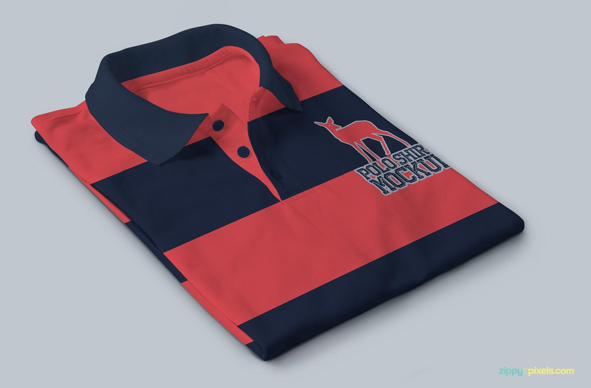 Versatile polo shirt psd mockup