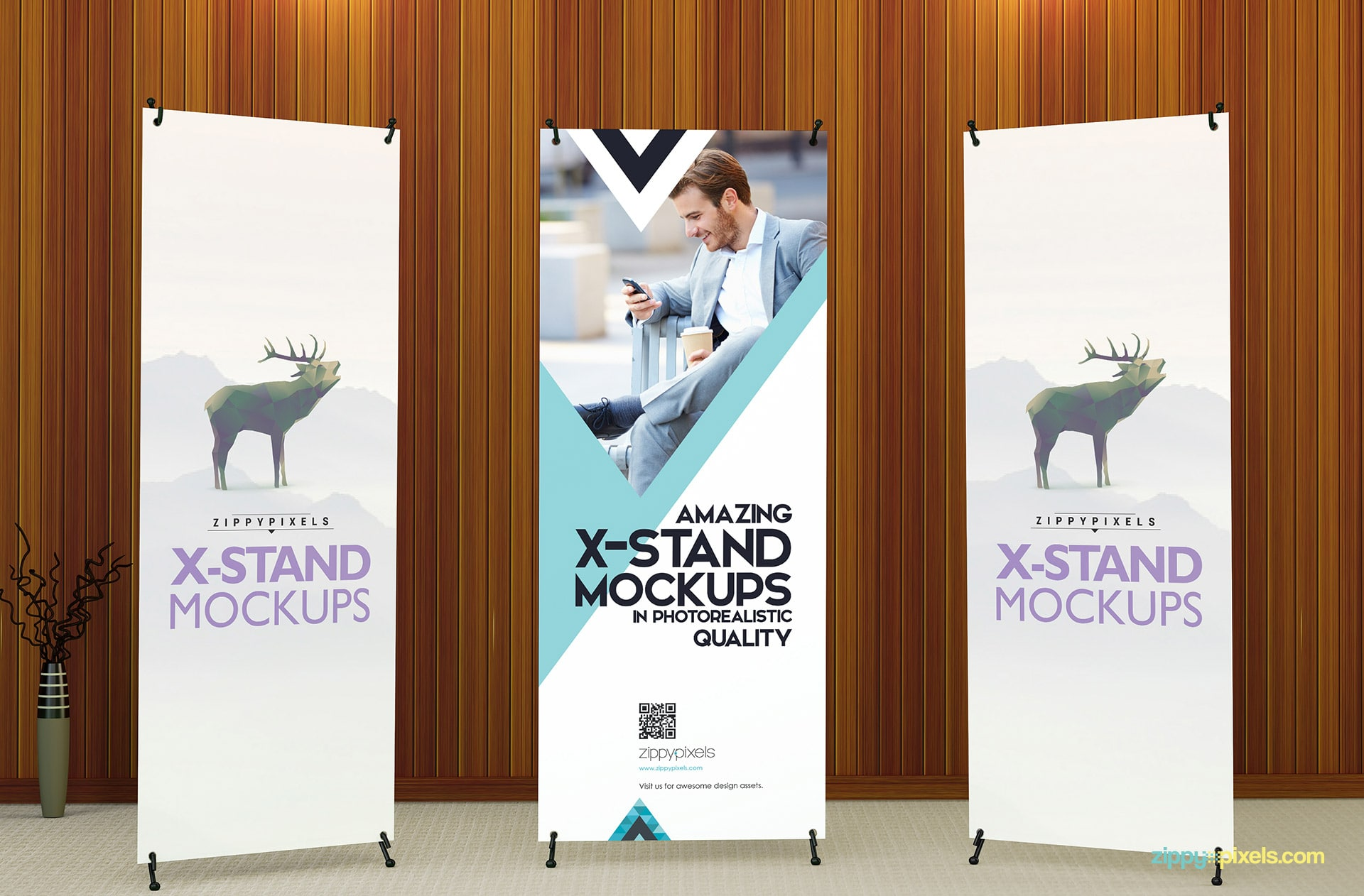 Make these x-banner mockups a canvas for your creativity.