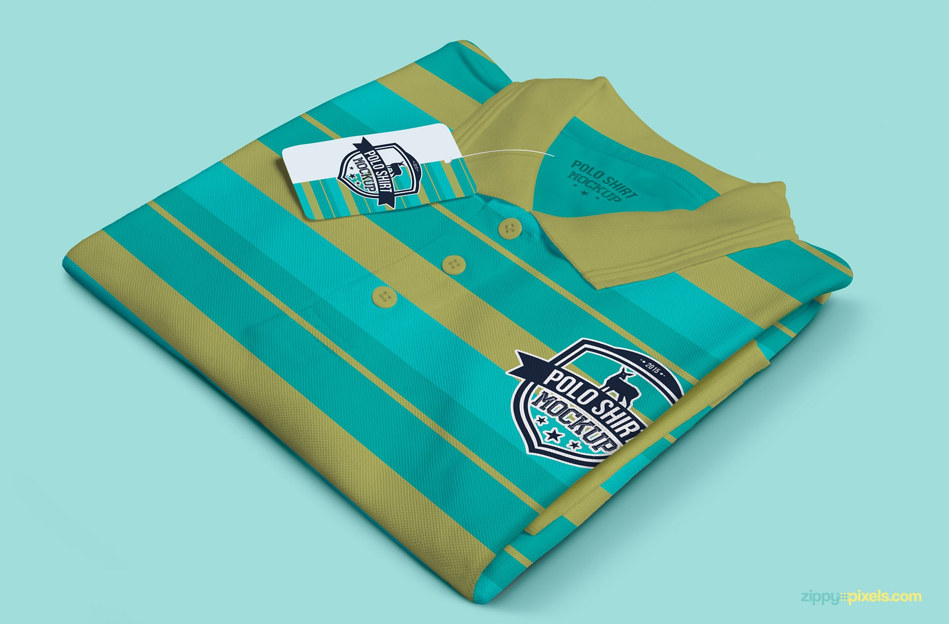 Showcasing editable features of the polo shirt mockup
