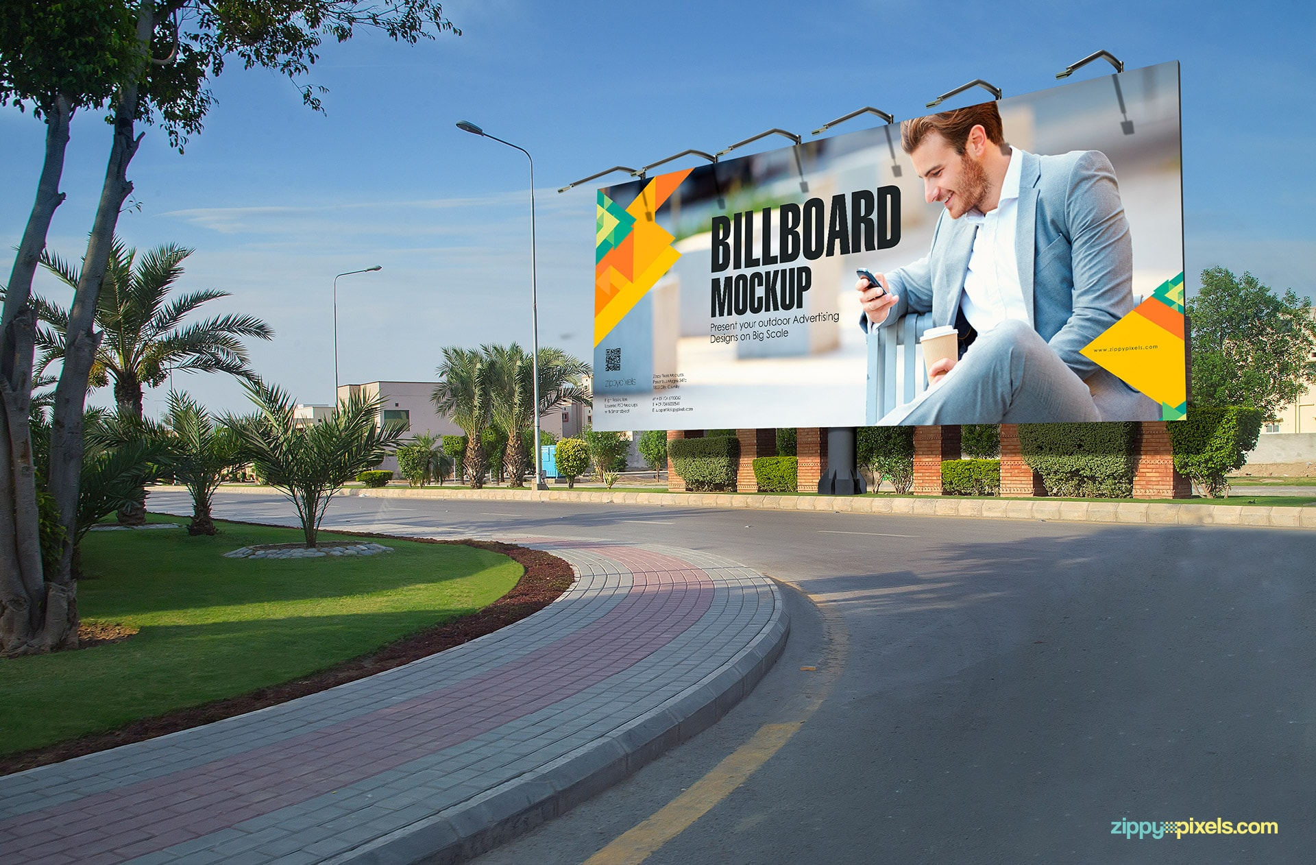 Bring life to advertising designs with this billboard psd.