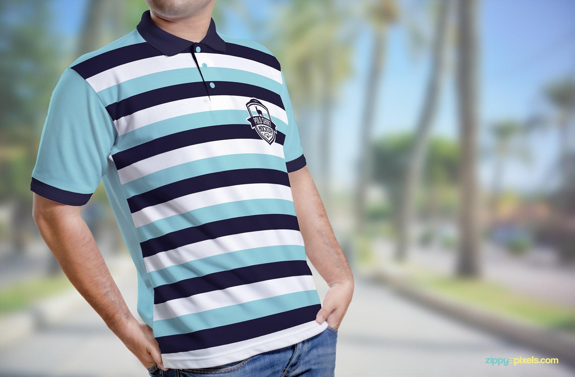Realistically portrait your shirt designs