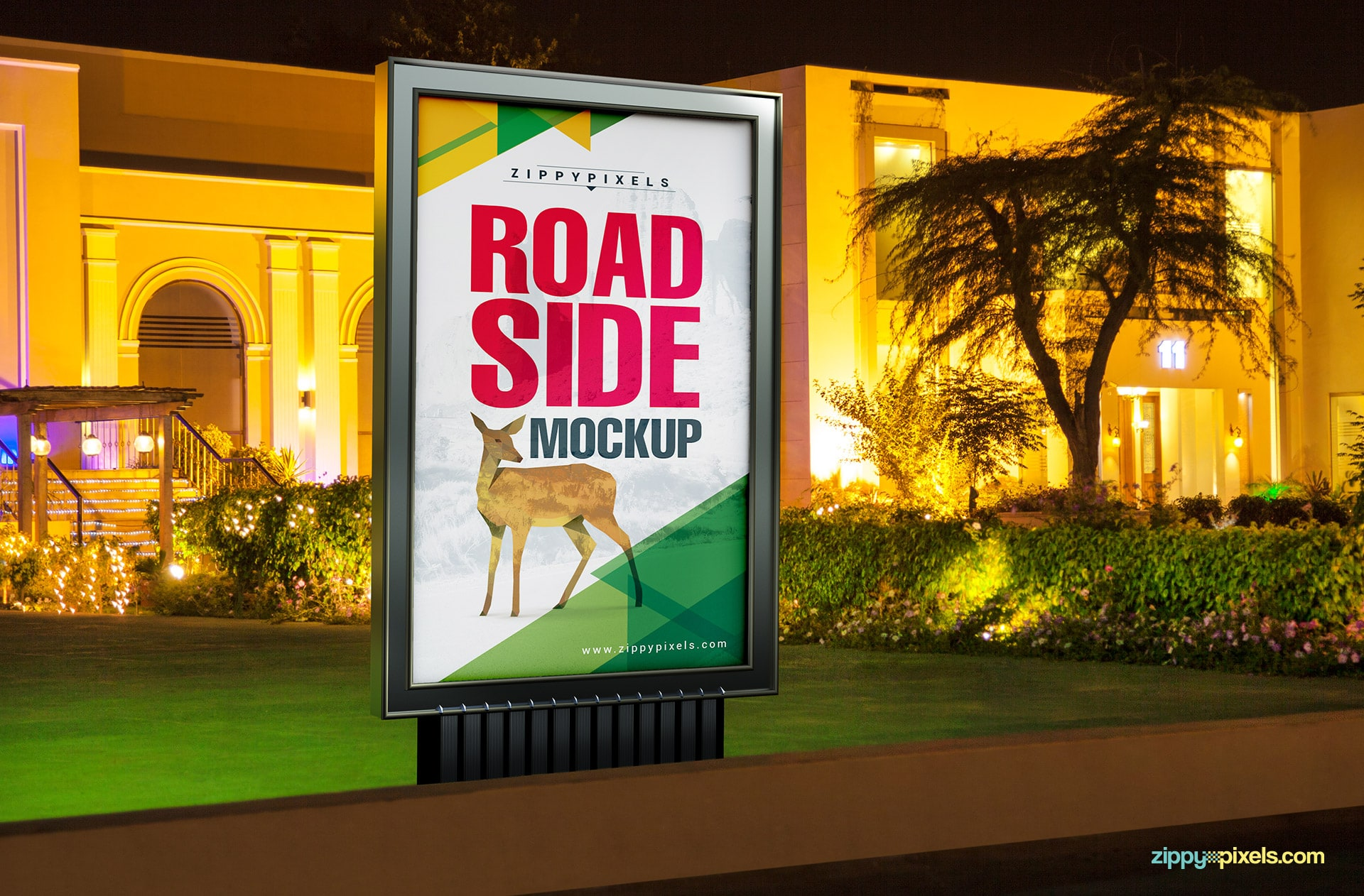 Awesome road side ad mockup to make your designs standout