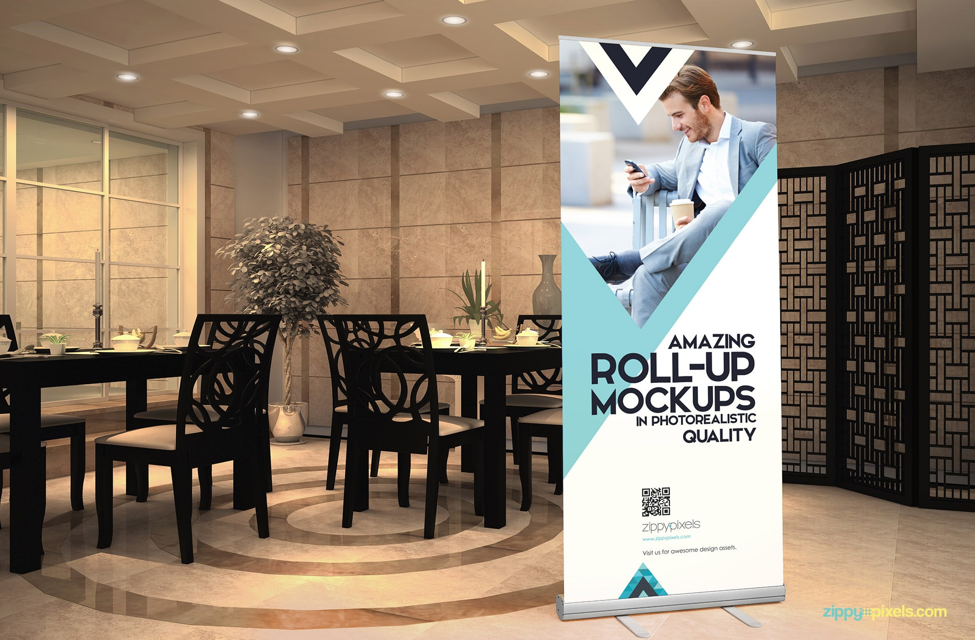 Indulge your client on your next advertising project with these fine roll-up banners.