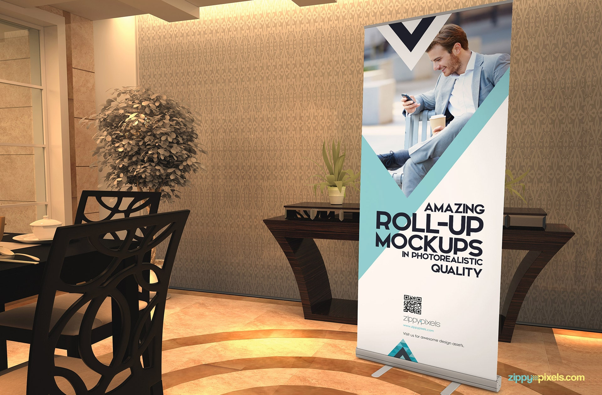 Attractive pull-up banner psd to make your designs shine.