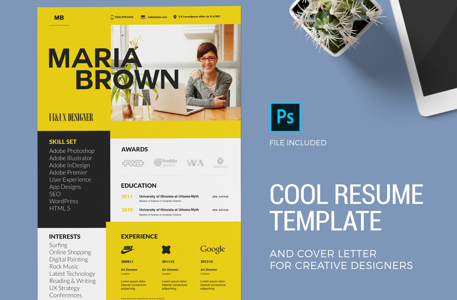 Cool Resume Template Cover Letter Zippypixels