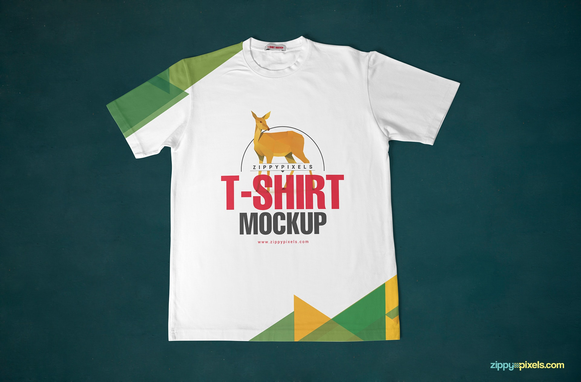 round-neck-t-shirt-mockup-front-top-view