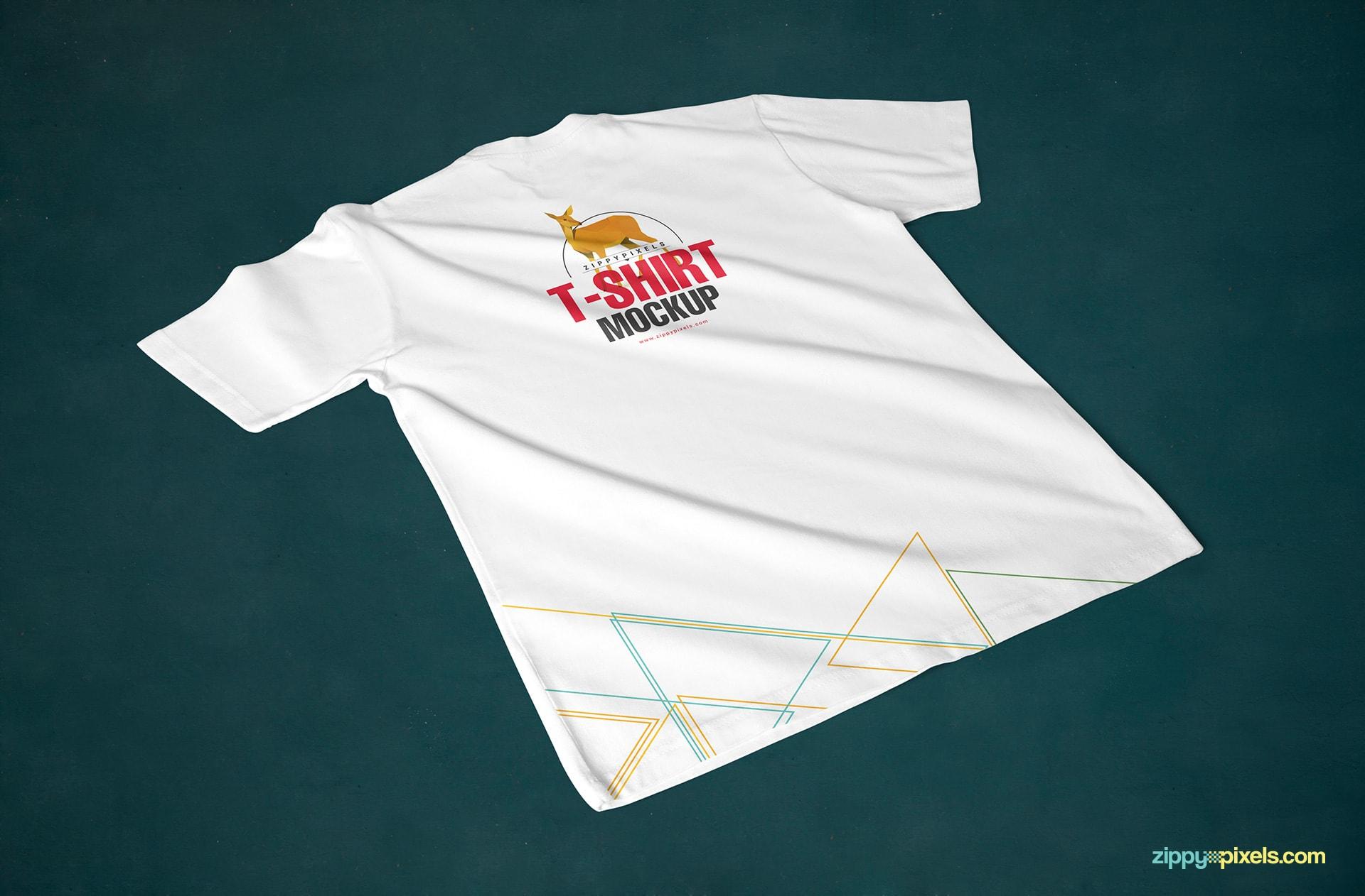 t-shirt-mockup-wrinkled-back-view