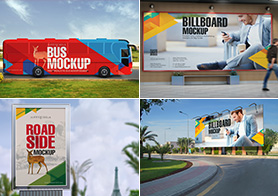 Stunning Outdoor Mockups For Advertising Vol.4 – (The Essential Combo)