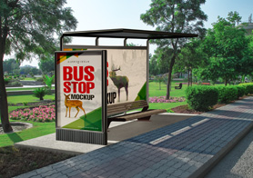 Outdoor Advertising Mockups Vol. 3 (13 Bus Stop & Roadside Posters Mockups)