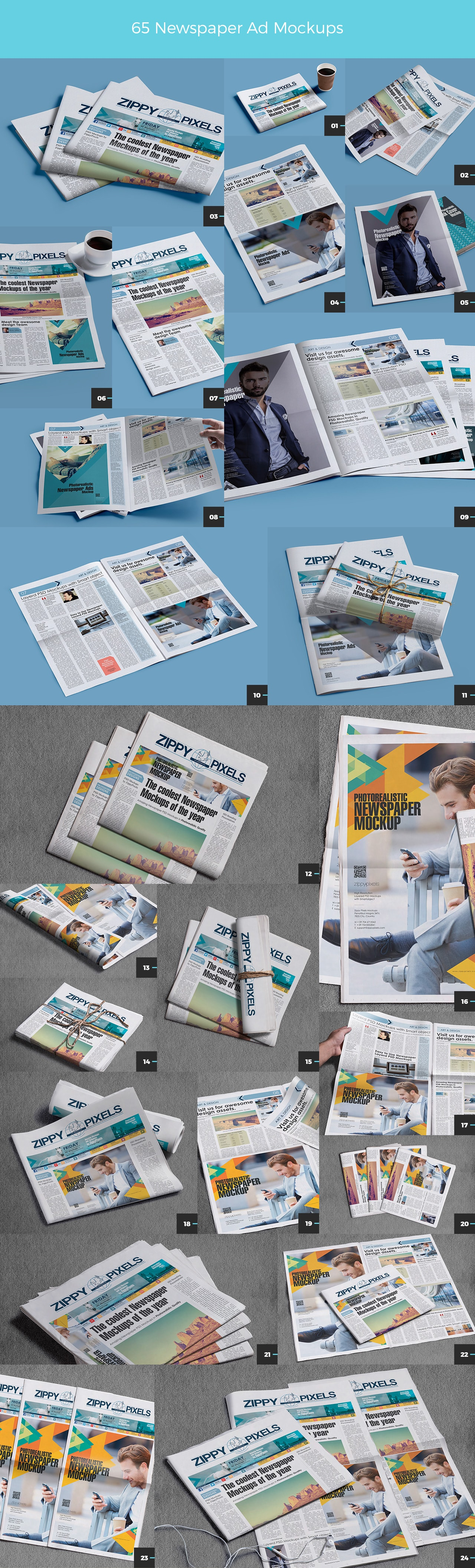 01 65 NEWSPAPER AD MOCKUPS (Part 1)
